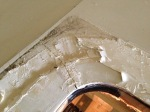 Crack in roof - with old sealant