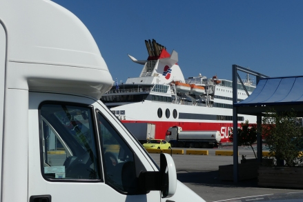 Waiting to board ferry at Piraeus for Rhodes