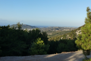 Overnighting in the mountains, Rhodes