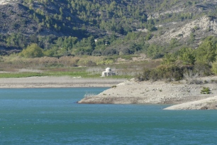 Apolakia Reservoir (chapel is normally underwater)