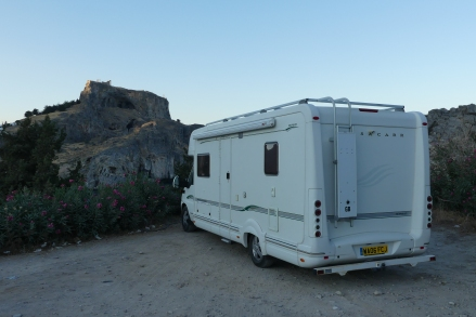 Camping under the Acropolis, Lindos