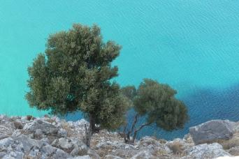 View from Feraklos Castle, Haraki