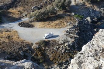Camping below Feraklos Castle, Haraki