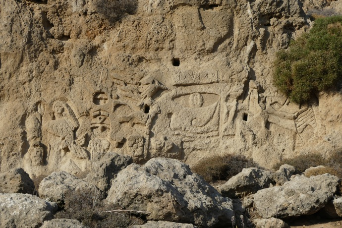 Rock carvings, Golden Sands
