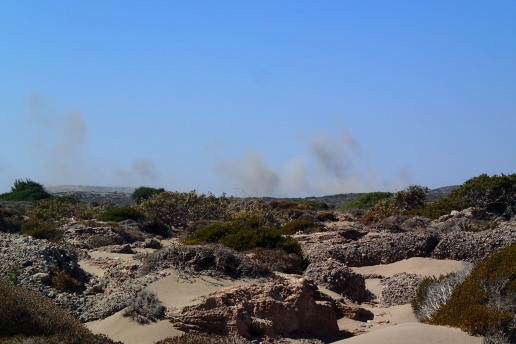 Live fire at the army camp, Mavros Kavos