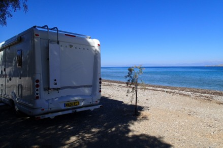 Lunch stop in the shade, Corinth