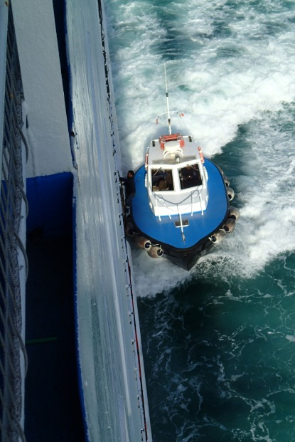 Coming aboard at 23 knots
