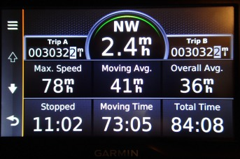 Our mileage not including ferries