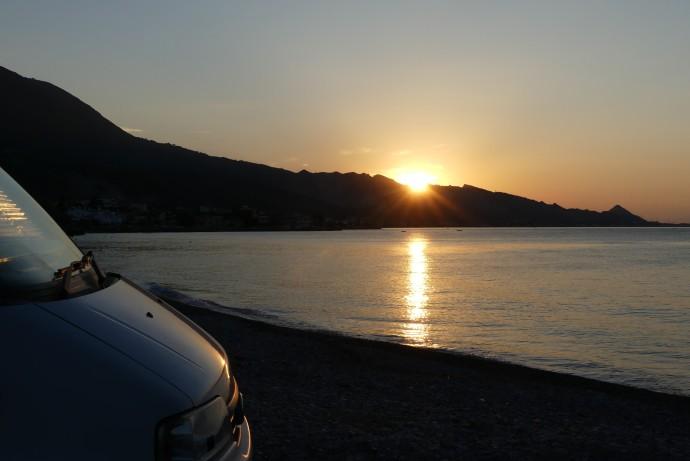 Overnight stop near Aigio, Greece