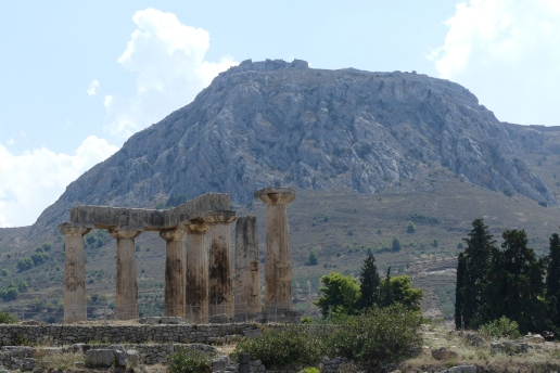 Ancient Corinth, Acrocorinth in the background