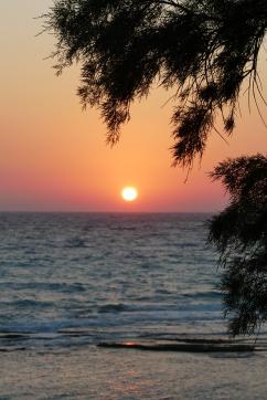 Sunset at Limni Beach