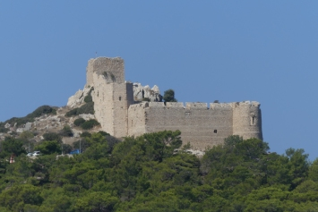 Kritinia Castle, now largely restored and in our opinion. spoiled from how it used to be