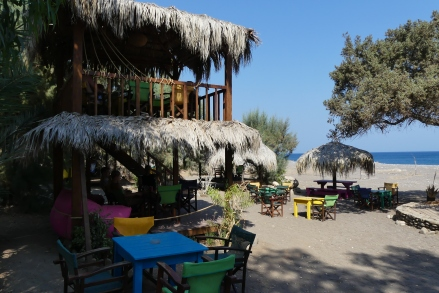 Mojitos beach bar, one of our favourite places for meeting friends, snorkelling, eating, and drinking
