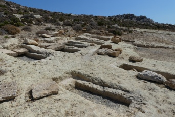 The ancient tombs above Golden Sands