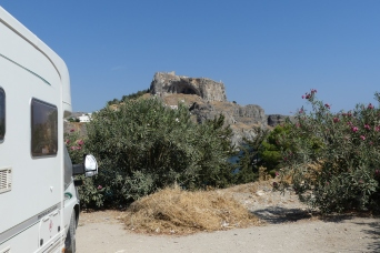 Overnight below the Acropolis at Lindos