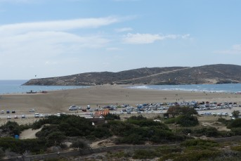 The Cape of Prasonisi, where the Aegean and the Mediterranean meet