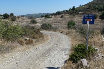 A typical Rhodian mountain track