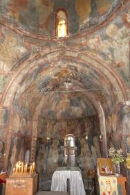 The original frescoes inside St. Nicholas of the Hazlenut