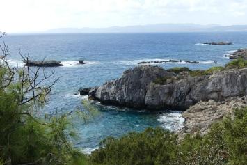 Coast walk from Pefkos