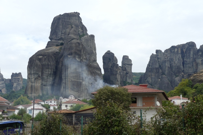 Meteora, the view from our campsite