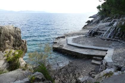 Trpanj - one of several swim areas on the coastal footpath