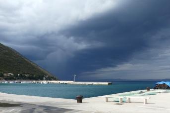 Storm clouds over Trpanj