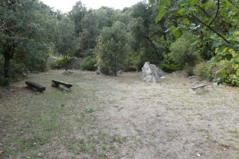 A small, hidden meeting place in the woods at Trpanj