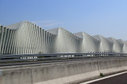 The 'wave' railway station at Reggio Emilia, Italy