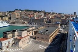 Leaving Ancona, Italy