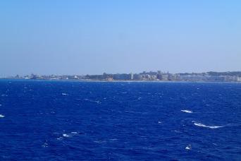Arriving at Rhodes