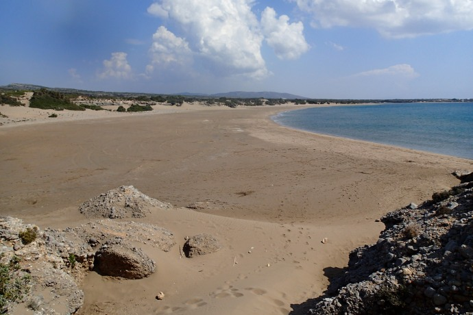 Our favourite beach, miles of isolation as far as the eye can see