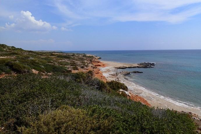 The walk from Mavros Kavos to Prasonisi