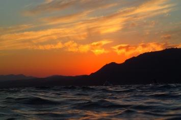 Sunset swim at Pefkos