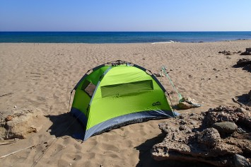 Our beach camp to explore from