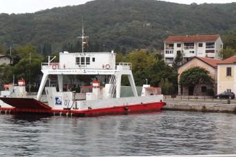 The ferry at Lepetane, Montenegro