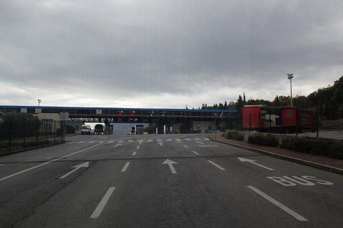 The border into Croatia