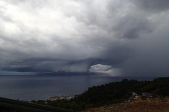 Croatia - odd storm clouds