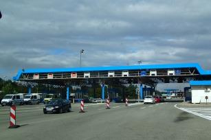 The border into Slovenia