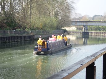 A river, a narrow boat, a stag party and a pink flamingo - what could possibly go wrong?
