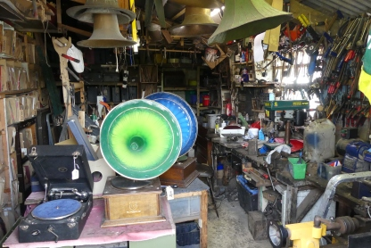 Antique gramophone workshop - West Pentire