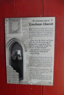 Tyneham - the note left by villagers on the church door as they left