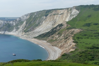Rockslide at Worbarrow