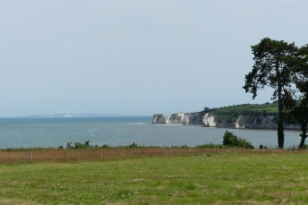 Old Harry and the Needles in the distance - once joined together