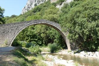 Paleokarias Ropotou falls and bridge