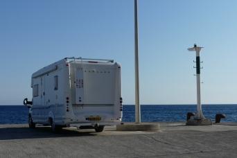 Camping at Lardos port