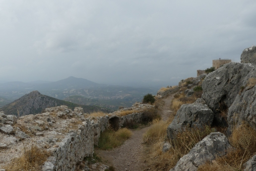 The storm approaches Acrocorinth