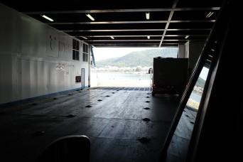 Leaving the ferry at Igoumenitsa