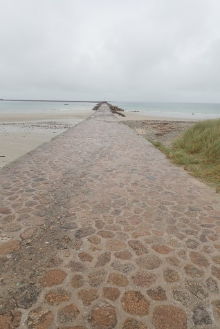 A final walk in the rain before catching the ferry, Cherbourg