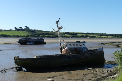 The boat graveyard, River Torridge