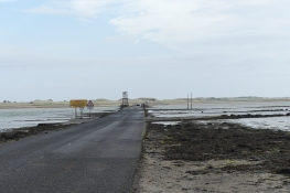 The causeway to the Holy Island of Lindisfarne